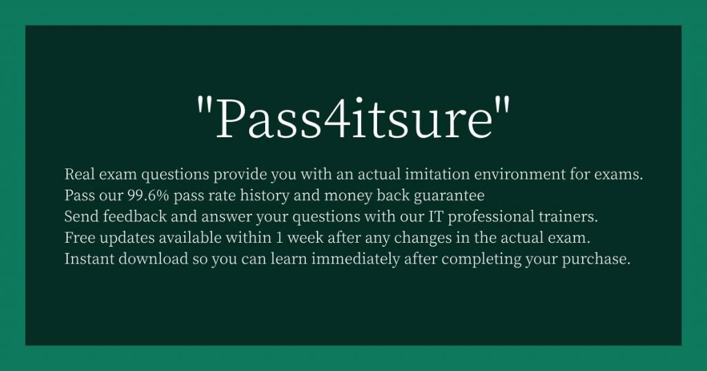Why Choose Pass4itsure