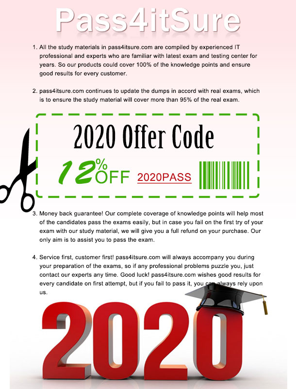 Pass4itsure discount code 2020