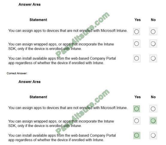 Examdumpsdownload MS-900 exam questions-q7